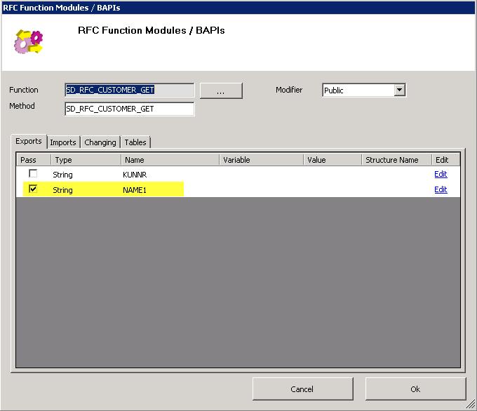 Function Module | Theobald Online Help