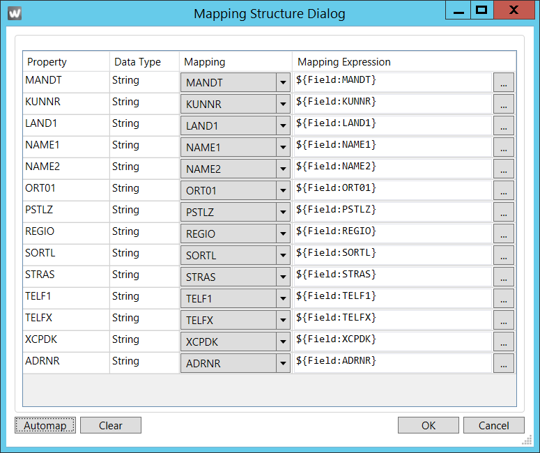 WSD-MappingStructureDialog